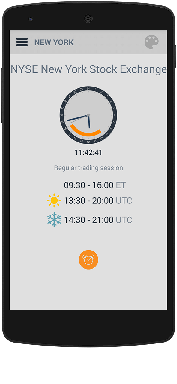 Market 24h Clock app: updated markets
